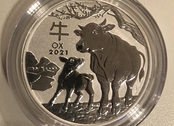 LunarIII Jahr des Ochsen 2021; 2 Unzen