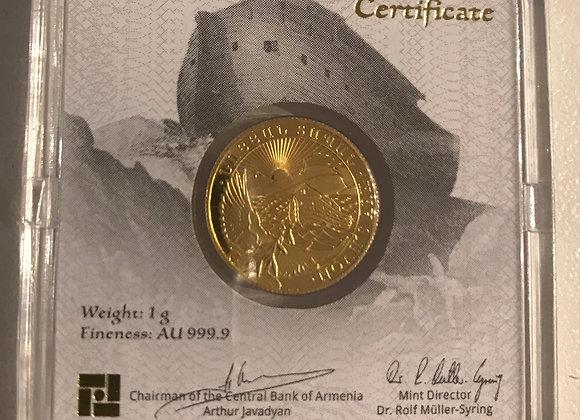 Arche Noah 1 Gramm Gold