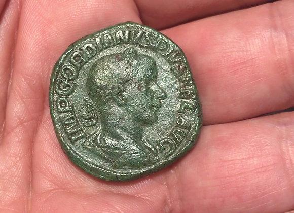 Römische Kaiserzeit Gordian III. Sesterz 241-243 n Chr. ss