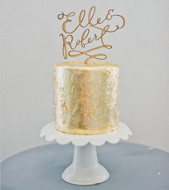 Gold Cake Topper, Oh Dier, Minneapolis Wedding Planner