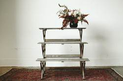 FLORAL TIERED SHELF