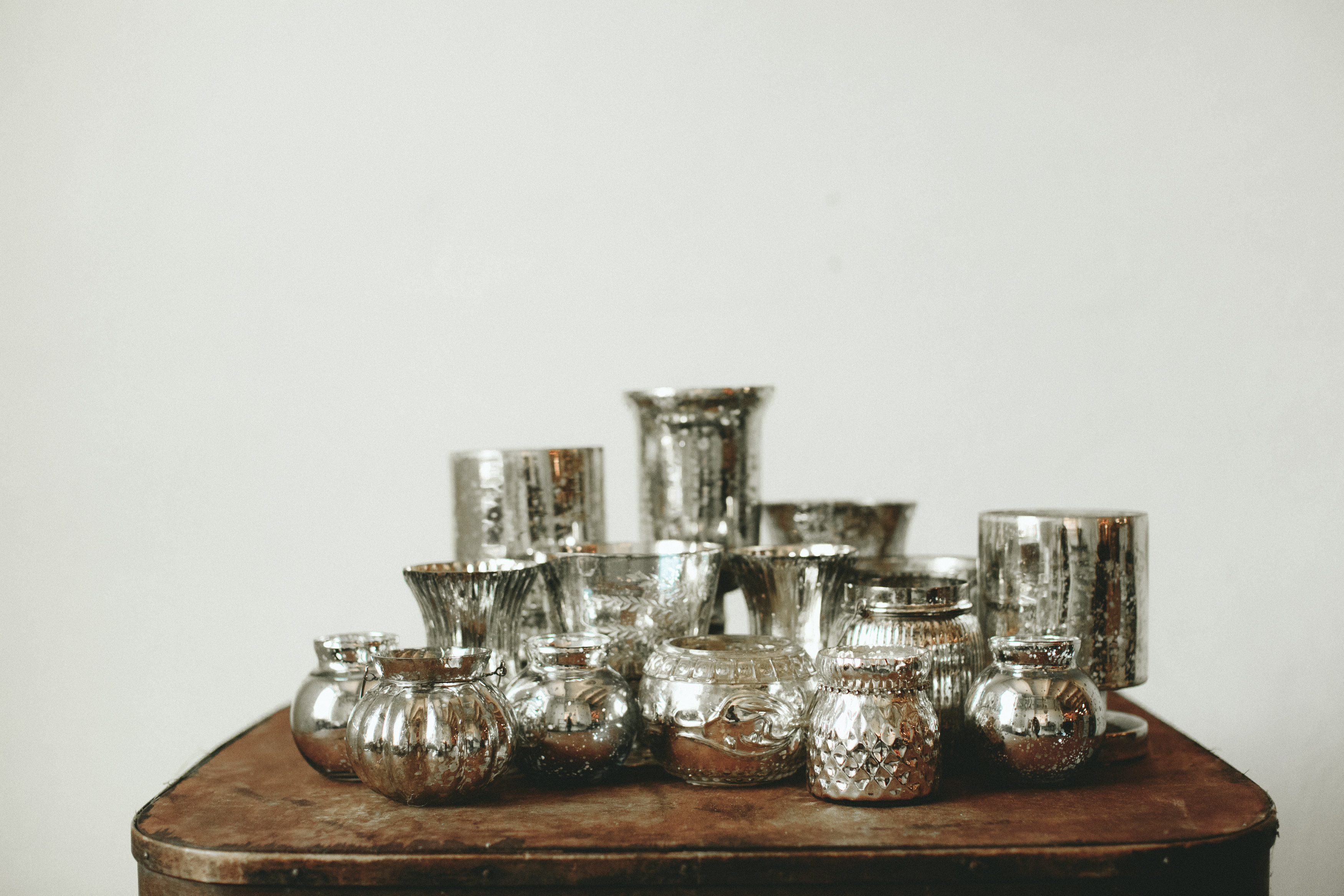 SILVER MERCURY GLASS