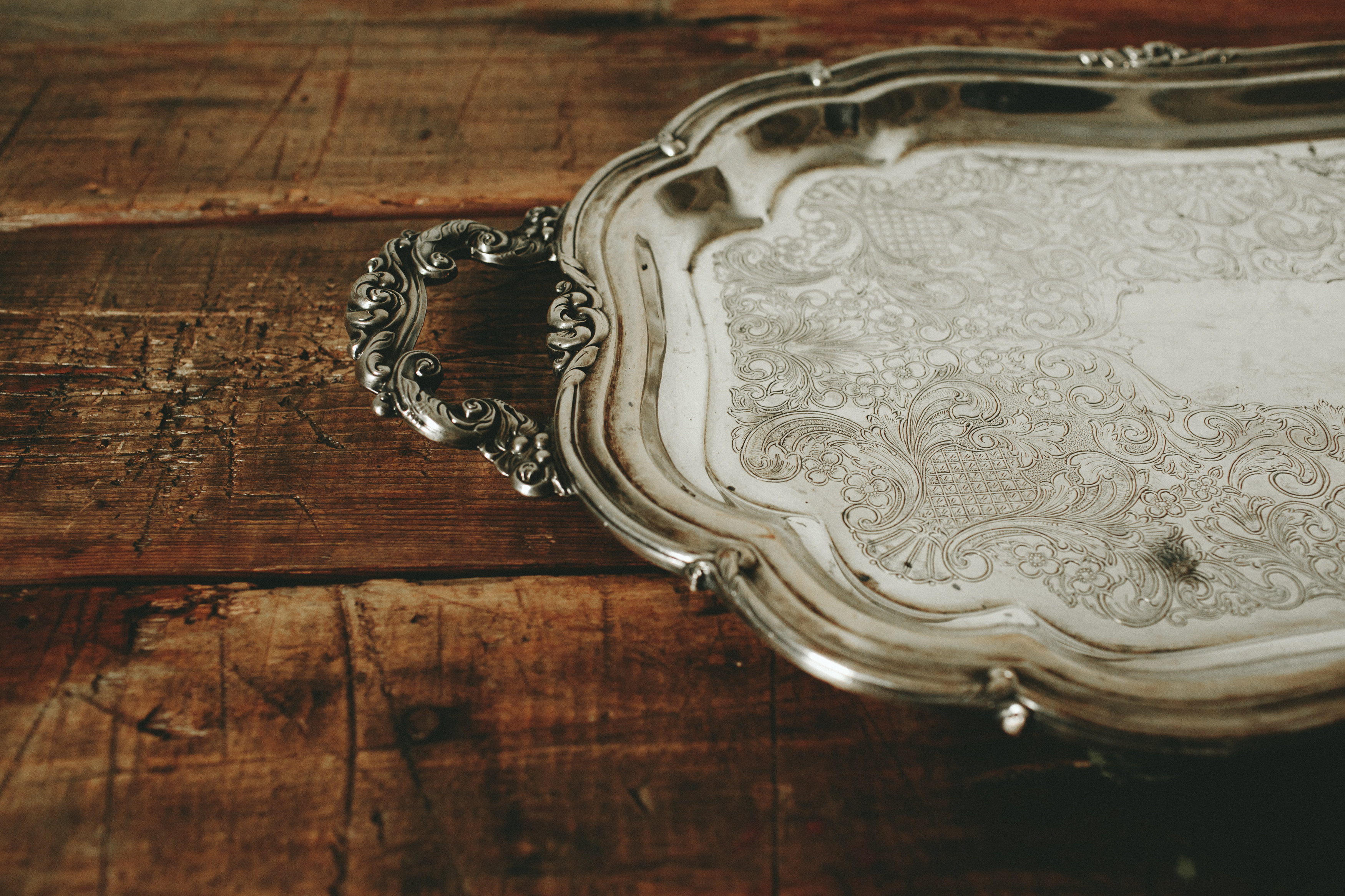 LARGE SILVER TRAY