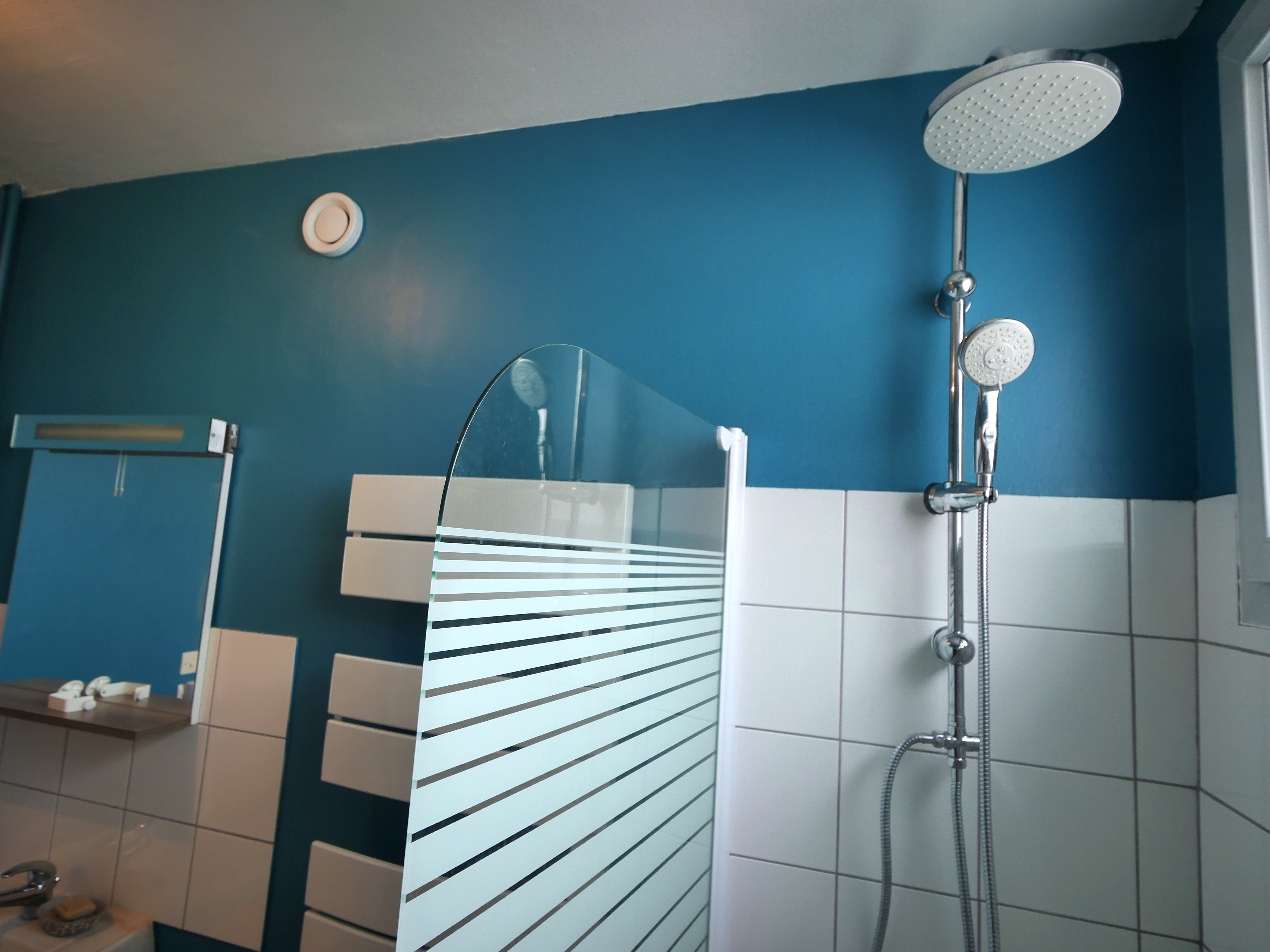 Pose pare-douche et colonne douche