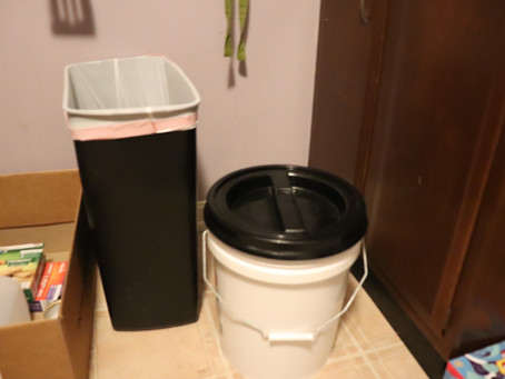 Buckets in your kitchen, hall, outside... where ever works for you