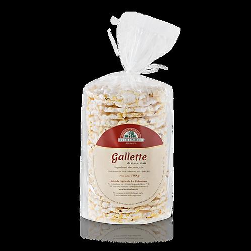 Gallette di mais e riso - Le Colombare