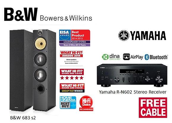 Package 17: B&W 683 s2 + Yamaha R-N602