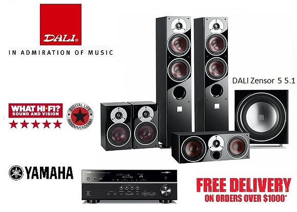 DALI Zensor 5 5.1 + Yamaha RX-V583
