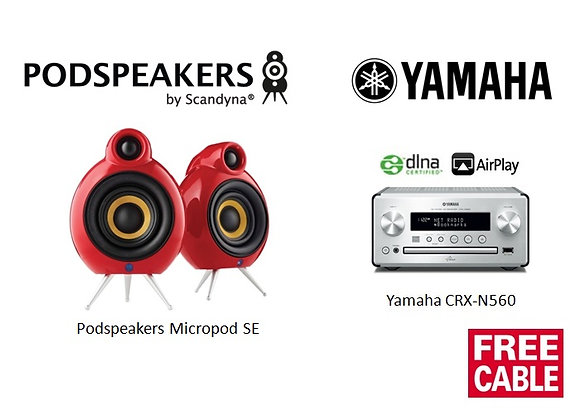 Package 1: Podspeakers Micropod + Yamaha CRX-N560
