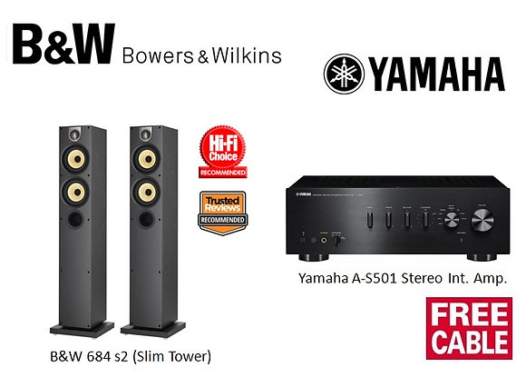 Package 13: B&W 684 s2 + Yamaha A-S501