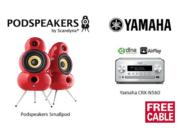 Package 4: Podspeakers Smallpod + Yamaha CRX-N560