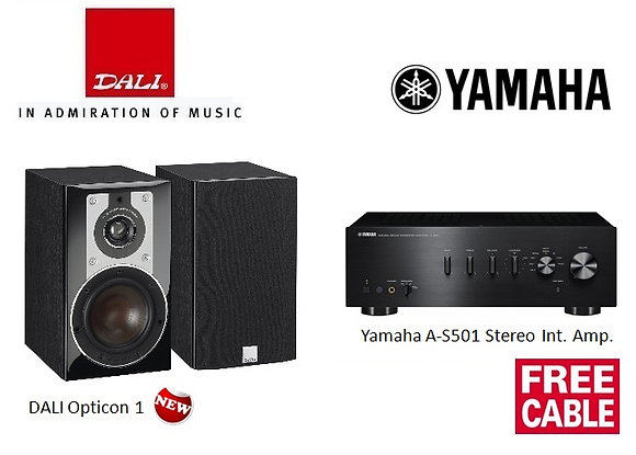 Package 7: DALI Opticon 1 + Yamaha A-S501 Int Amp