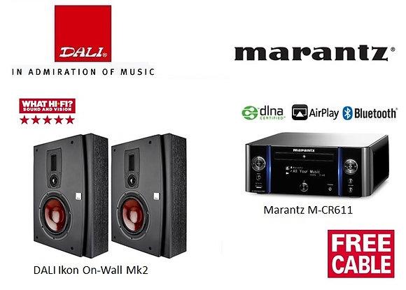 Package 11: DALI Ikon On-Wall Mk2 + Marantz MCR611