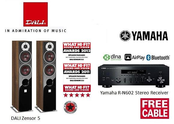 Package 10: DALI Zensor 5 + Yamaha R-N602