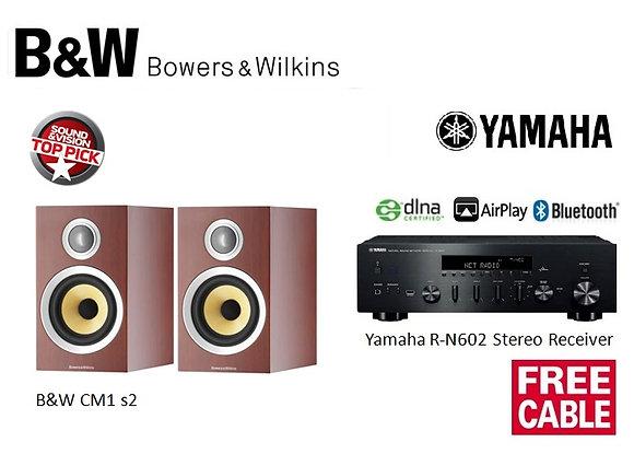Package 12: B&W CM1 s2 + Yamaha R-N602