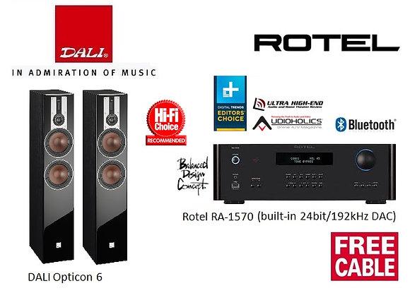 Package 18: DALI Opticon 6 + Rotel RA-1570