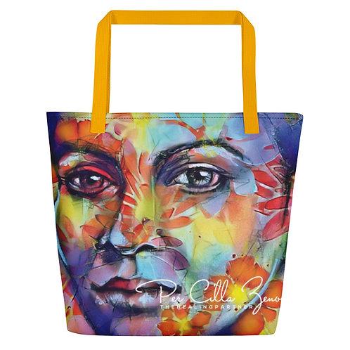 Large Tote Bag w/ Pocket