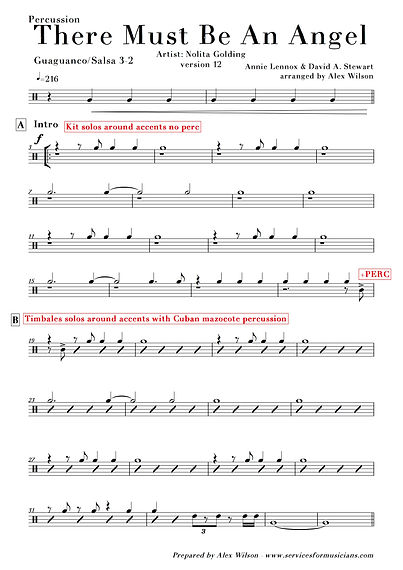 There Must Be An Angel (v12) - Percussio