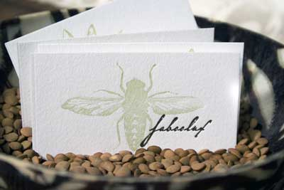 Letterpress busines card