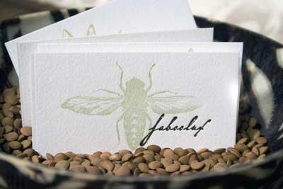 Letterpress busines card