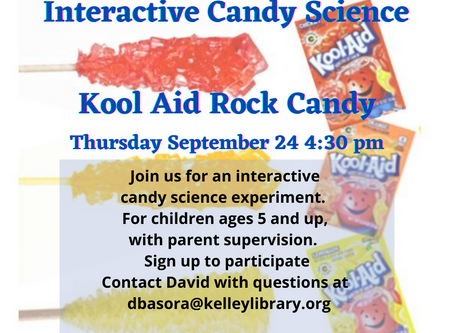 ZOOM Candy Science! 9/24/20