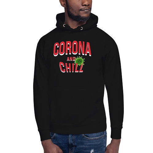 Black Corona and Chill Unisex Hoodie