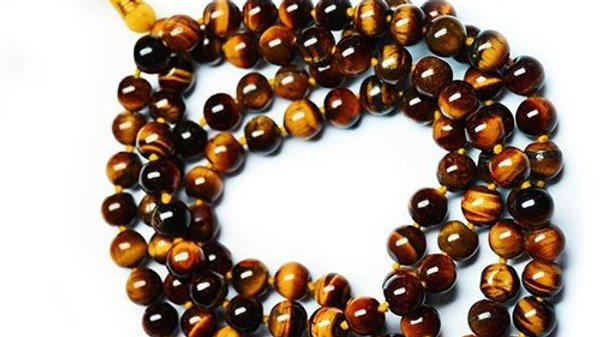 Tiger Gemstone Mala Beads