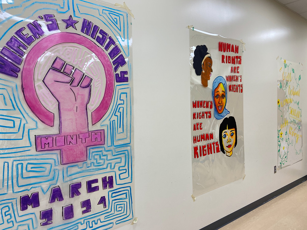 Three Women's History Month posters.