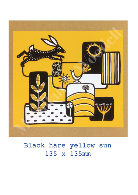 BLACK HARE YELLOW SUN