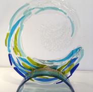 Glass Wave & Glass Stand