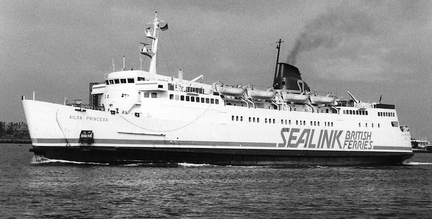 Leaving Portsmouth in Sealink British Ferries colours. © Gary Davies / Maritime Photographic