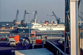 Laid up at Calais before her stint at Holyhead.