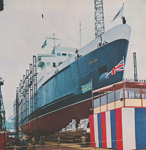 Launch day for the Dover. © Dover Ferry Photos Library