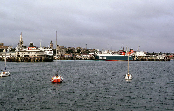 Dun Laoghaire 1978. L-R St Columba, Dalriada, Duke of Lancaster. © Kenny Whyte