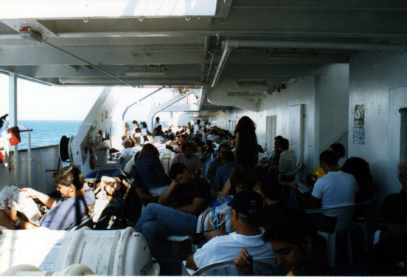 Boat deck, starboard side