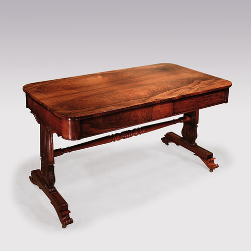 Early 19th Century Regency period well figured rosewood Writing Table.