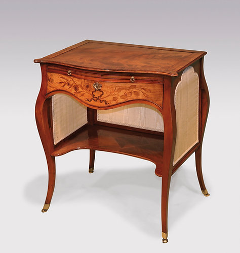 A late 18th Century 'French Hepplewhite' figured mahogany Ladies Writing Table.