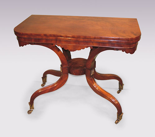 Antique Regency Mahogany Tea Table