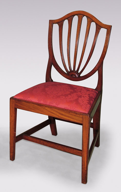A single Hepplewhite shield-back Side Chair.