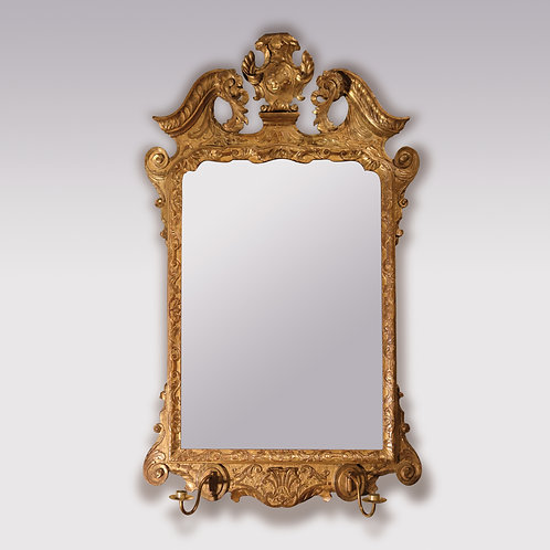 Mid 18th Century Carved Giltwood Mirror