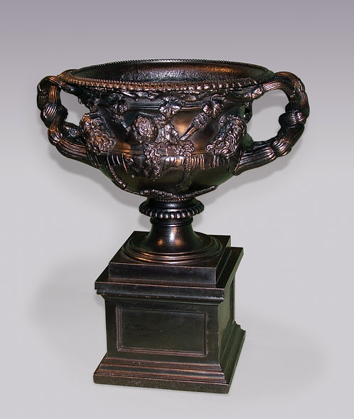 Antique Early 19th Century Cast-Iron Warwick Vase