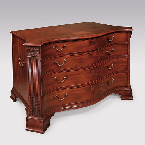 18th Century Chippendale period mahogany Serpentine Commode