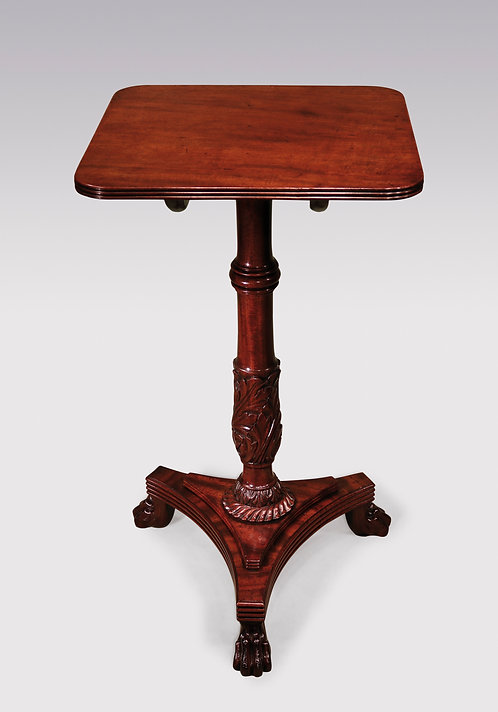 An Antique Regency period fiddleback mahogany Occasional Table