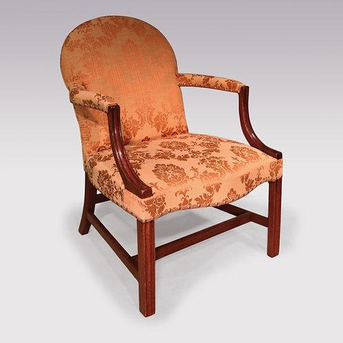 A mid 18th Century George III period mahogany Gainsborough Armchair