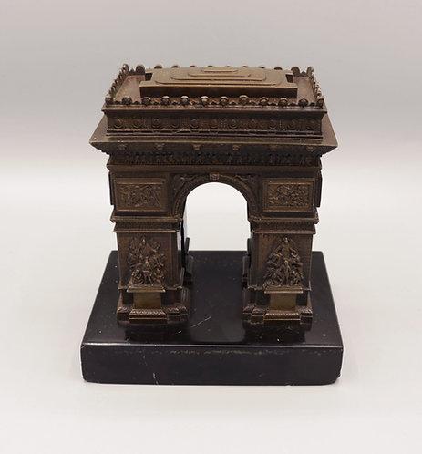 Mid 19th Century bronze Model of the Arc de Triomphe