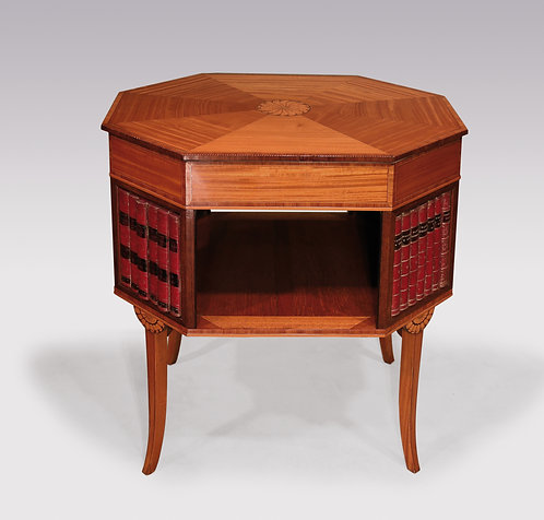 Unusual 18th Century Sheraton Period Satinwood Occasional Table