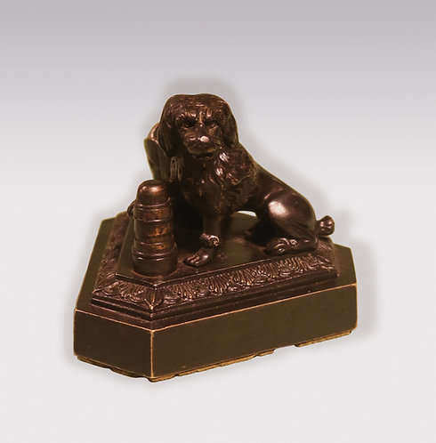19th Century model of a seated spaniel