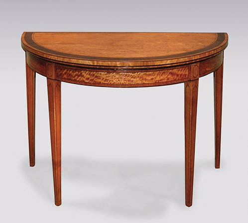 Antique Late 18th Century Satinwood Half-Round Card Table SOLD