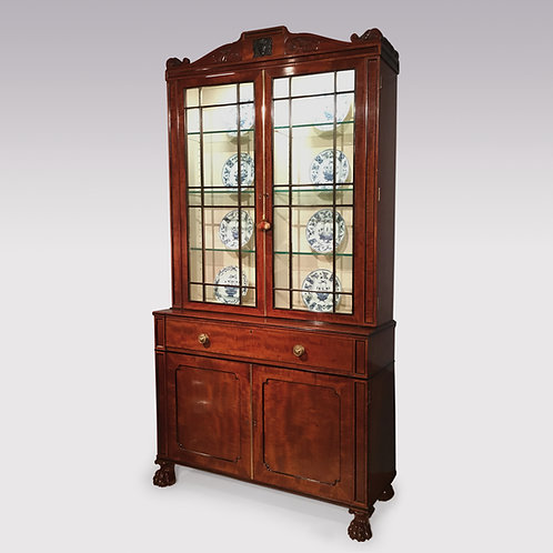 Regency period mahogany secretaire Bookcase in the manner of Thomas Hope