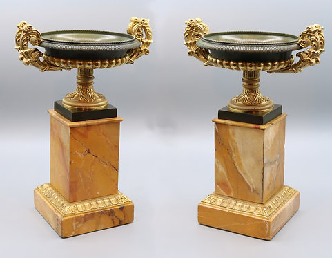 Pair of early 19th Century bronze and ormolu Tazzas SOLD